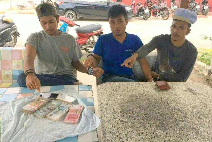 Motorbike trio arrested for stealing from Chinese tourist, marijuana | The Thaiger
