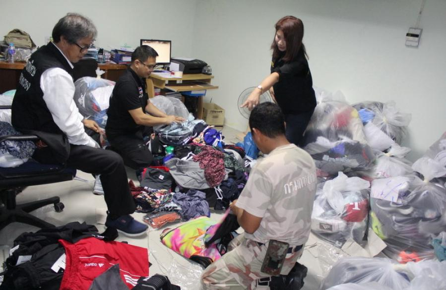 Ten arrested, B20mn of merchandise confiscated in Phuket raid | The Thaiger