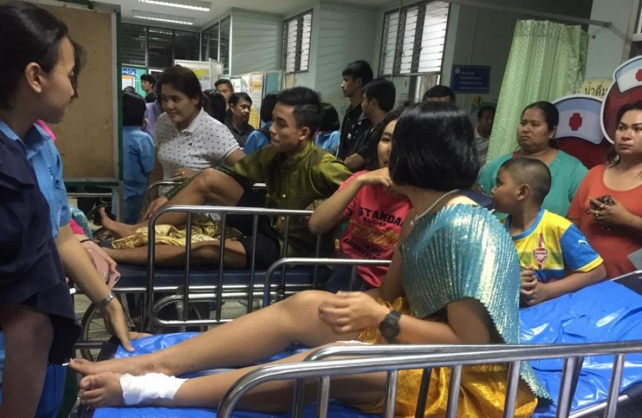 Students injured in festival fireworks malfunction | The Thaiger