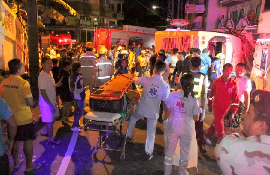 Video: Ten-year-old tourist and father killed in another Phuket bus crash on Patong Hill | The Thaiger