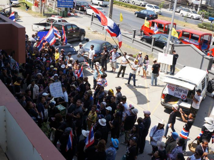 Phuket anti-government protest leaders deny obstruction charges | The Thaiger