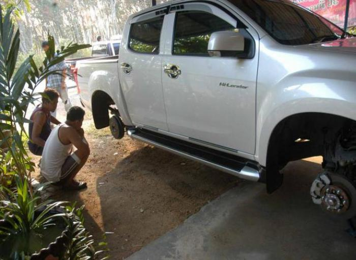 Phuket Queer News: Man finds fully protected truck floating with no wheels | The Thaiger