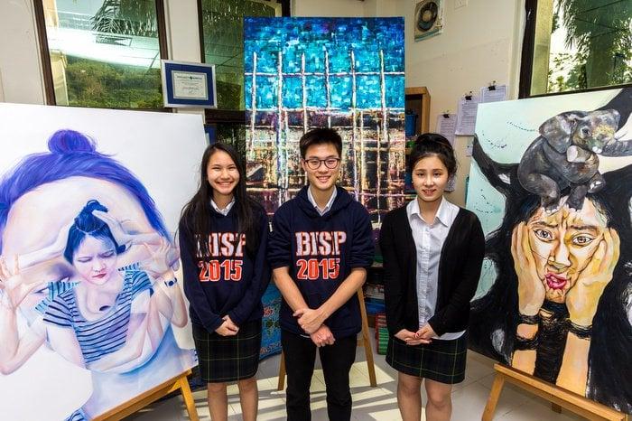 "BISP's ""Three Artsketeers' put artwork on display | Thaiger"