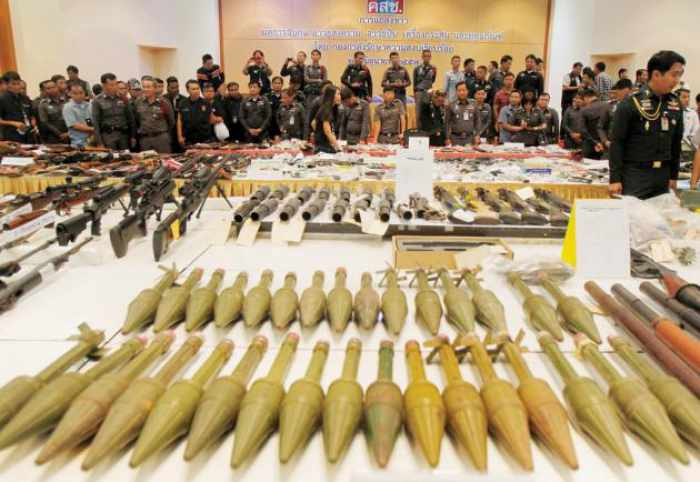 Huge cache of seized weapons revealed | The Thaiger