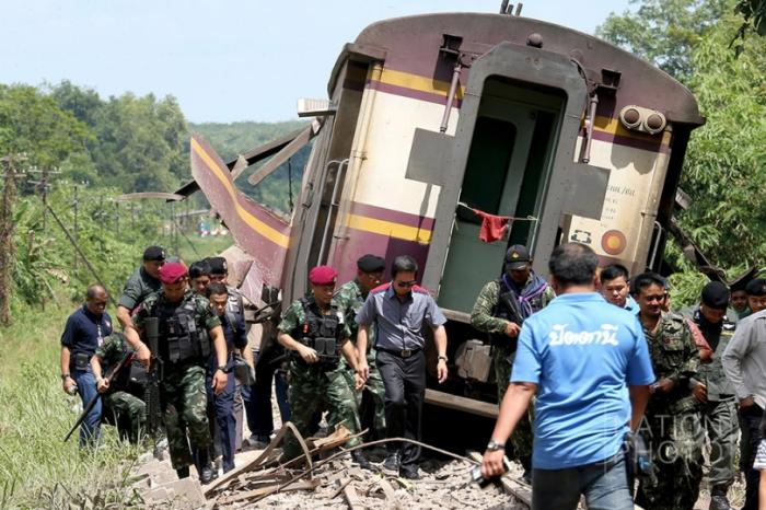 Train bombing may derail peace talks | The Thaiger
