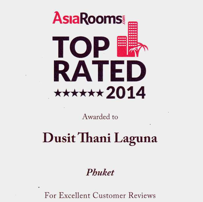 Dusit Thani Laguna Phuket named one of AsiaRooms.com Top Rated 2014 | The Thaiger