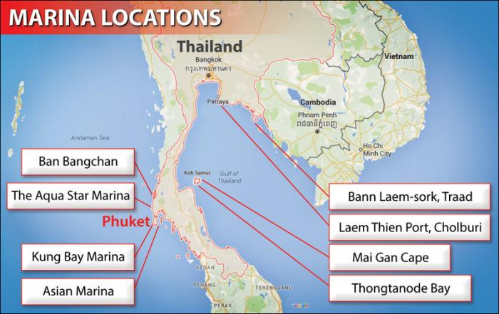 Phuket to get two of eight new marinas planned for the south | The Thaiger