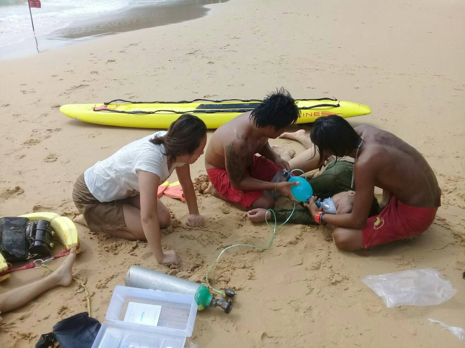 Chinese tourists get in trouble in strong Nai Thon surf | The Thaiger