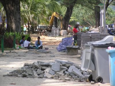 Patong beautification an ugly mess | The Thaiger