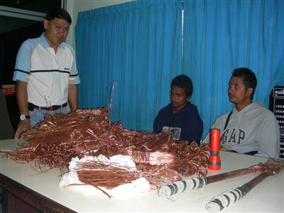 Chalong Police nab cable cutters | The Thaiger