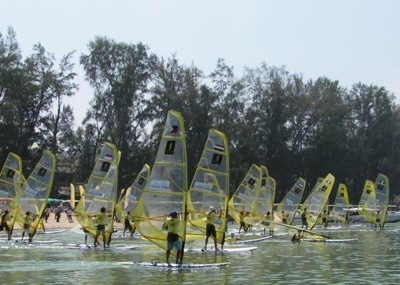 World-class windsurfers set off on 100km rally | The Thaiger