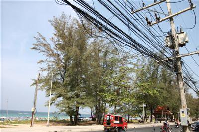Karon Beach power lines going underground | The Thaiger