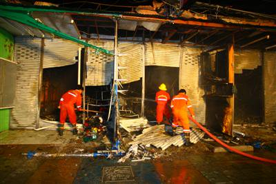 Jintana Plaza gutted in alleged arson attack | The Thaiger