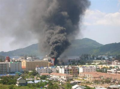 Marriott's Courtyard ablaze   The Thaiger