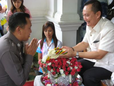 Governor receives Songkran blessing | The Thaiger