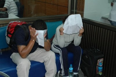 "Peruvian drug ""mules' busted at airport 