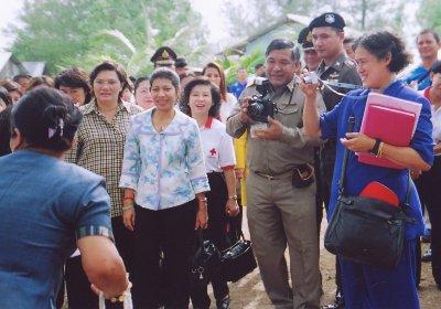 Princess visits tsunami survivors | The Thaiger