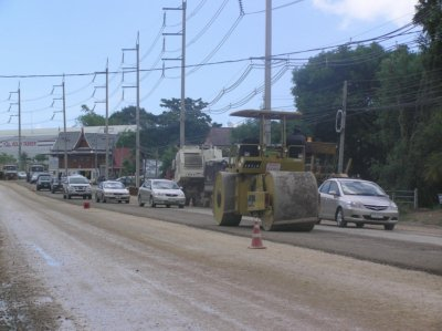 Road widening causing traffic delays | Thaiger