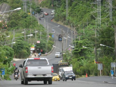 Patong Hill road being resurfaced | The Thaiger