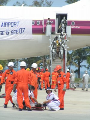 """Phuket Airport disaster drill hailed a """"success' 