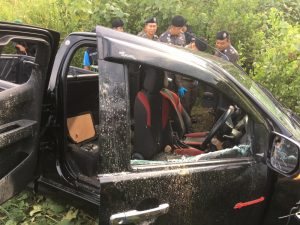 Dramatic robbery of five pick-ups leaves two dead in Songkla   News by Thaiger