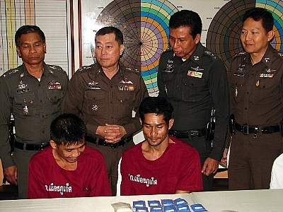 Phuket police nab meth 'delivery man' at Tesco | The Thaiger