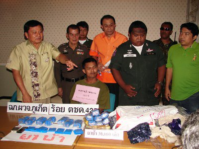 "30,000 pills seized in Phuket meth ""delivery man' arrest 