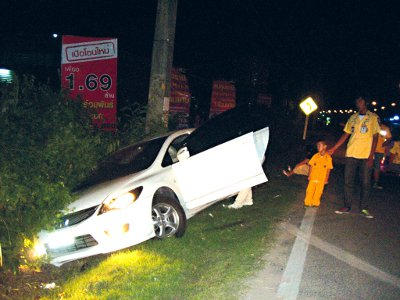 Phuket stray sends Koreans plowing into power pole | The Thaiger