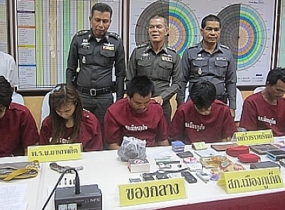 7 rounded up on drugs, arms, theft charges in Phuket | The Thaiger