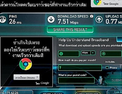 """Phuket Live Wire: Finding your """"True' internet speed 