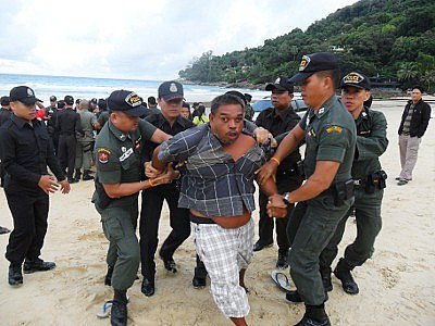 """Use of force """"necessary' in Phuket beach eviction: Police 