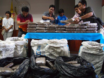 Police seize 400kg of marijuana in single haul | The Thaiger