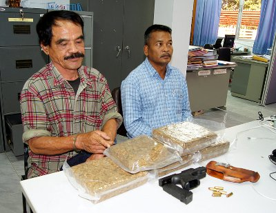 Ex-cop caught smuggling 4.5kg of marijuana into Phuket | The Thaiger