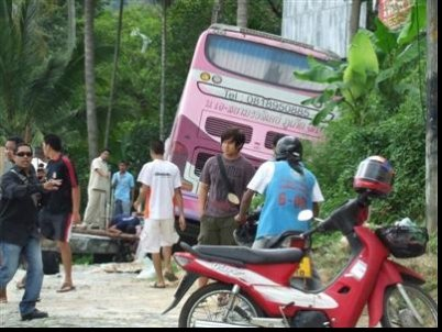 Phuket Breaking News: Bus crash on Patong Hill; many injured | The Thaiger