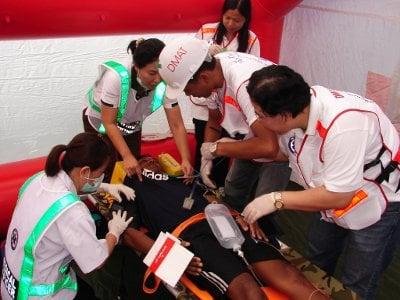 Phuket DMAT teams take on Japan, Korea in disaster rescue face-off | The Thaiger
