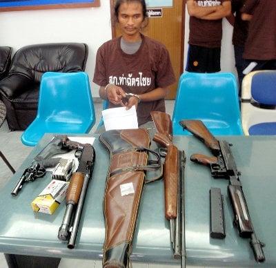 Machine gun seized in Phuket meth raid | The Thaiger
