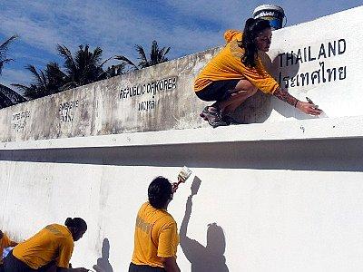 Phuket Tsunami Memorial Wall caretakers sign up for long haul | The Thaiger