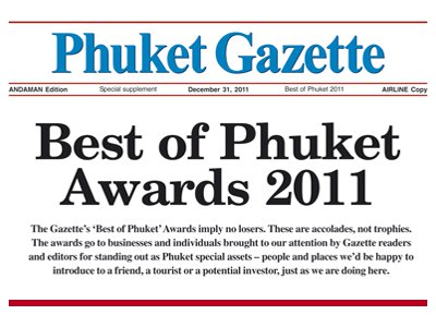 Phuket's annual 'Best of Phuket' Awards to be unveiled tomorrow | The Thaiger