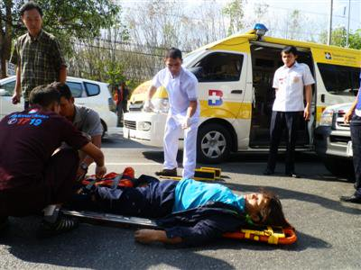 Two rushed to hospital after separate accidents in Phuket | The Thaiger