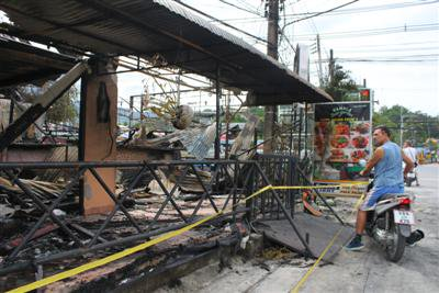 Phuket beer garden fire not arson: owners | The Thaiger
