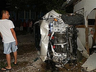 Two dead in Phuket as pickup slams into house | The Thaiger