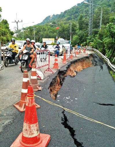 Race to repair Patong Hill road   The Thaiger
