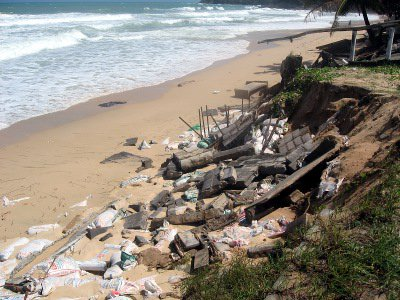 Phuket monsoon surf batters sea wall to pieces | The Thaiger