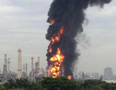 Bangkok oil refinery fire; under control | The Thaiger