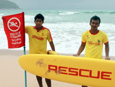 Phuket lifeguards save 333 swimmers after return to beaches | The Thaiger
