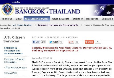 US Embassy prepares for anti-American demonstrations in Thailand | The Thaiger