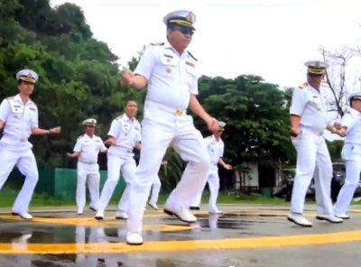"Thai Navy in Phuket does it ""Gangnam Style' 