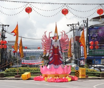 Phuket Town redecorated for Vegetarian Festival | Thaiger