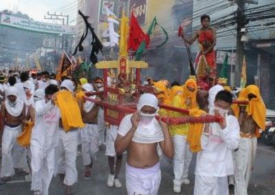 Phuket Vegetarian Festival street processions in full swing | Thaiger