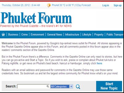 Phuket's largest readership base brought to bear on expat forum | Thaiger
